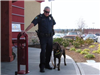 Officer Davis with K-9 Baylee who is now retired