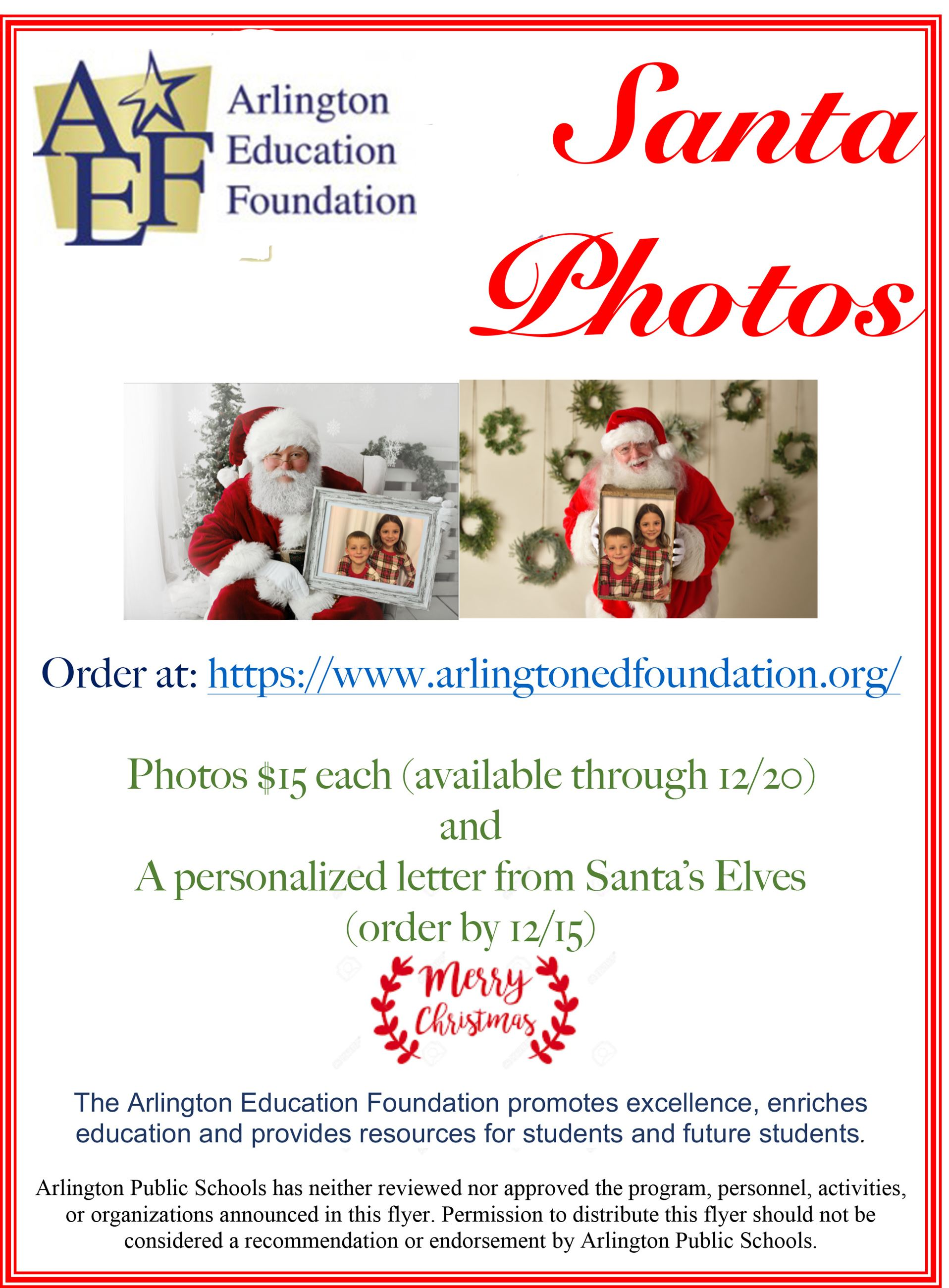 AEF Santa Photo Flyer 2020 Final